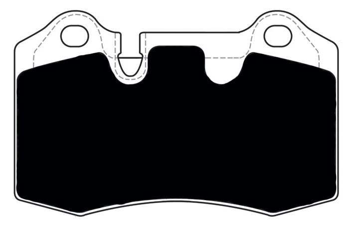 Aston Martin Porterfield R4-S Brake Pads Rear AP 1166
