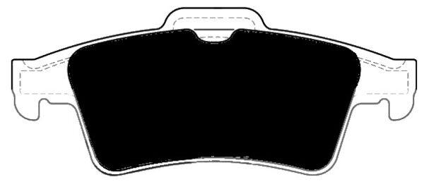 Jaguar F-Type Porterfield R4-S Brake Pads Rear AP 1095