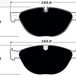 Jaguar Porterfield R4-S Brake Pads FrontAP 1448